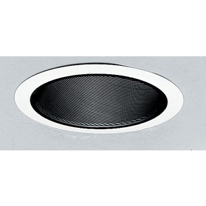 """614B-WH *JUNO 6"""" SLOPE WH/BLK BAFFLE"""