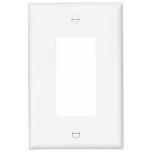 PJ26W CWD 1G DECOR SWITCH PLATE WHITE